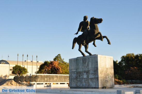 Alexander de Grote standbeeld in Thessaloniki